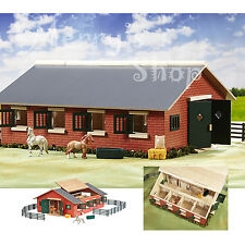Deluxe Stable Set Stablemates Horses Farm Barn Pretend Play Toddle Toy Kids Toys