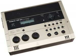 Roland Portable SD / CD Recorder Built-in Condenser Microphone CD-2u From Japan