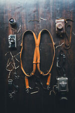 Dual Camera Strap, Leather Camera strap, Dual Camera Harness, Double leather