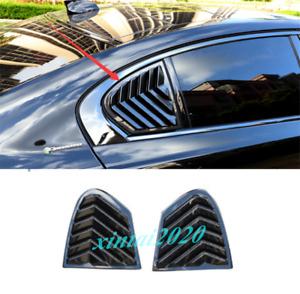 ABS Carbon Fiber Side Vents Window Louver Shield Cover For Jaguar XE 2020 2021