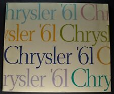 1961 Chrysler Large Prestige Brochure New Yorker Windsor Newport, Wagon Original