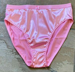 PRINCESS PINK Size 5/Small Second Skin Super Hi Shine Hi Cut Leg Brief Panty
