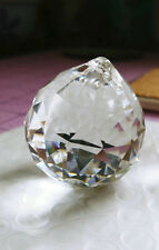 ASFOUR 30mm CLEAR Faceted PRISM ~ LEADED glass suncatcher  ~ sparkling, pretty!