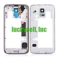 Samsung Galaxy S5 G900V G900A G900T Back Housing Middle Frame Bezel Camera Lens