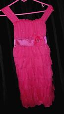 NWT BOUTIQUE Girls 14 pageant PARTY dress CASUAL wear RUFFELS lace RETAIL $62