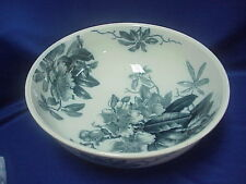 """RARE 1887 BROWN-WESTHEAD MOORE & CO KEW Very Large Bowl 16"""" by 6"""" BLUE and GOLD"""