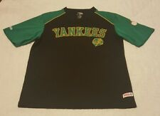 New York Yankees MLB Stitches Irish Shamrock Sewn Baseball Jersey Shirt Sz. M