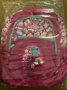 Smiggle Girls Gold Backpack Unicorn school bag pink shiny glitter