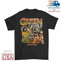 Vintage Rare Queen 1978 Tour Band Men's T-Shirt Black Size M-2XL