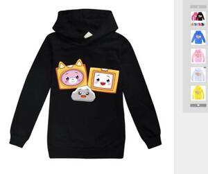 LANKYBOX Boys Kids Girls Sweatshirt Hoodies Premium Cotton Long Sleeved Pullover