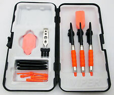 Neon Orange Slim Rubberized Sure Grip Soft Tip Dart Set + Case 18 gram - 2