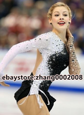 Ice skating dress.white/black Competition Figure Skating /Baton Twirling custome