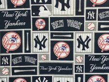 Mlb New York Yankees Baseball Sports Cover Cotton Quilt Mask Fabric 18� X 29� Pc