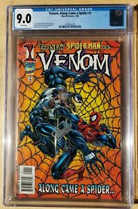 Venom Along Came A Spider #1 CGC 9.0  Signed Stan Lee! *Unverified, Blue Label*