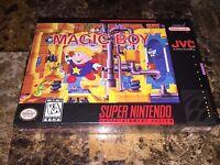 MAGIC BOY SNES Super Nintendo Factory Sealed NIB CIB BRAND NEW! RARE GEM! Beauty