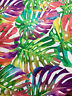 TROPICAL LEAVES Palm Fabric Curtain Upholstery Cotton Material -280cm EXTRA WIDE