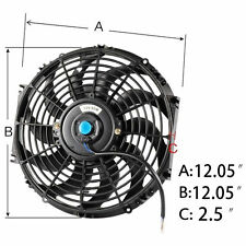 "12"" 12INCH FAN +MOUNTING PULL/PUSH RADIATOR Cooling Electirc Thermo Covred Fan"