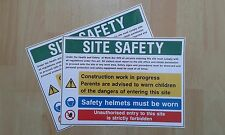 Site Safety Construction health and safety signs