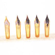 5pcs High quality Gold Medium Nib fountain pen  New