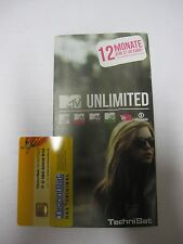 Technisat MTV unlimited Code  (12Monate) + Smartcard
