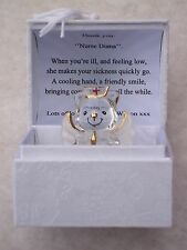 NURSE Teddy Bear Box@PERSONALISED LOVE Verse@HOSPITAL Red Cross THANK YOU Gift