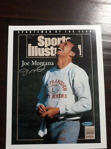 Joe Montana Autographed Sports Illustrated 49ers Photo UDA Upper Deck COA