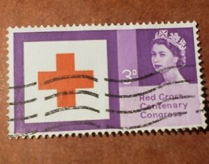 GM40 GB 1963 QE2 Red Cross Centenary Congress USED 3d Stamp