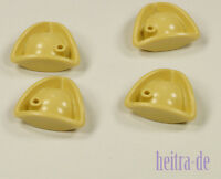 LEGO Piraten - 4 x Hut Tricorne beige ( Tan ) / Dreispitz / 2544 NEUWARE