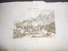1836 STEEL ENGRAVING SPAIN BATTLE OF CASTELBAR NAPOLEONIC WAR NAPOLEON