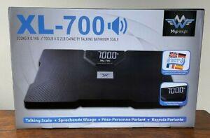 My Weigh XL-700 Talking Bathroom Scale 700 Lb 320kg~Talking Scale