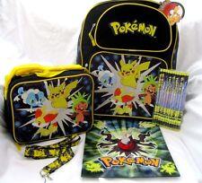 "Pokemon Pikachu 16"" Backpack,lunchbox,Pokemon Pencils,Pokemon Lanyard, & Folder3"
