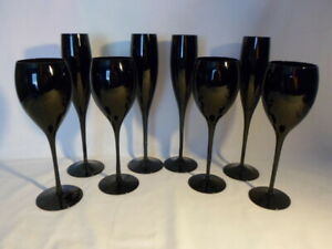 Dark Red Blood 4 Wine/ 4 Campagne  GLASSES SET