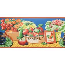 Still Life, Fruit & Flowers Wallpaper Border