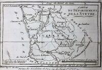 La Nièvre en 1790 Corbigny Clamecy Château-Chinon Moulins Engilbert Decize Cosne