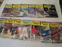 Railroad Modeler Trains Magazine 1989 - 1999 16 Issues  1990 1997 1998 1999