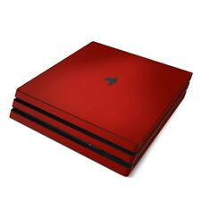 Sony PS4 Pro Console Skin Kit - Red Burst - Sticker Decal