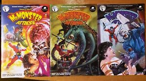 MR MONSTER ATTACKS 1 2 3 COMICS SET HORROR DAVE GIBBONS SIMON BISLEY GILBERT