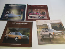 1983 Plymouth Sales Brochures, Lot of 4 pieces