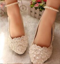 Decolté decolte scarpe donna ballerina bianco pizzo sposa 3.5, 4.5 8.5 cm 9332