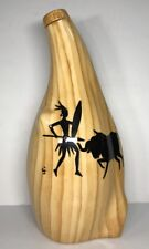 Bottiglia Imitazione Legno Vintage Vallauris Grandjean Jourdan H 28 l 13 l 11