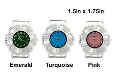 2pcs Colored Flower Ribbon Watch Faces For Interchangeable Beaded Bands