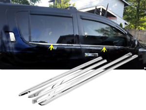 Polished Stainless Steel Chrome Window Sill Trims For 2005-2015 Nissan Armada