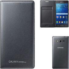 custodia Flip Wallet originale Samsung G530 Galaxy Grand Prime grigio smart case