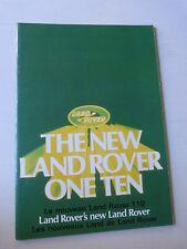 Catalogue prospectus : le nouveau LAND ROVER 110 de 1984