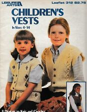 Children's Vests In Sizes 4-14 | Leisure Arts 312 Knitting Crochet
