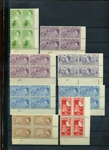 Bermuda 1953 selection of MH plate blocks of 4 inc better values