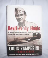 Devil At My Heels-The Story Of Louis Zamperini, SIGNED, 1st,  D/J, Like New