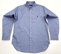 Ralph Lauren Men's Classic Fit Polyester Shirt In Light Blue Size M