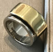YVES SAINT LAURENT ,925 STERLING PARIS FASHION RING SIZE 5 NEW IN BOX HAND MADE