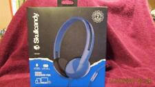 SKULLCANDY BLUE HEADPHONES WITH IN-LINE MICROPHONE AND MORE